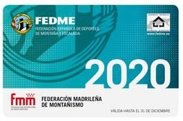 Foto tarjeta licencia federativa montaña 2020 - FEDME y FMM